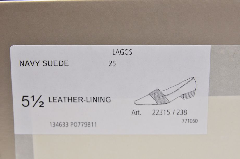 Peter Kaiser Lagos Navy Suede Shoes 25 9