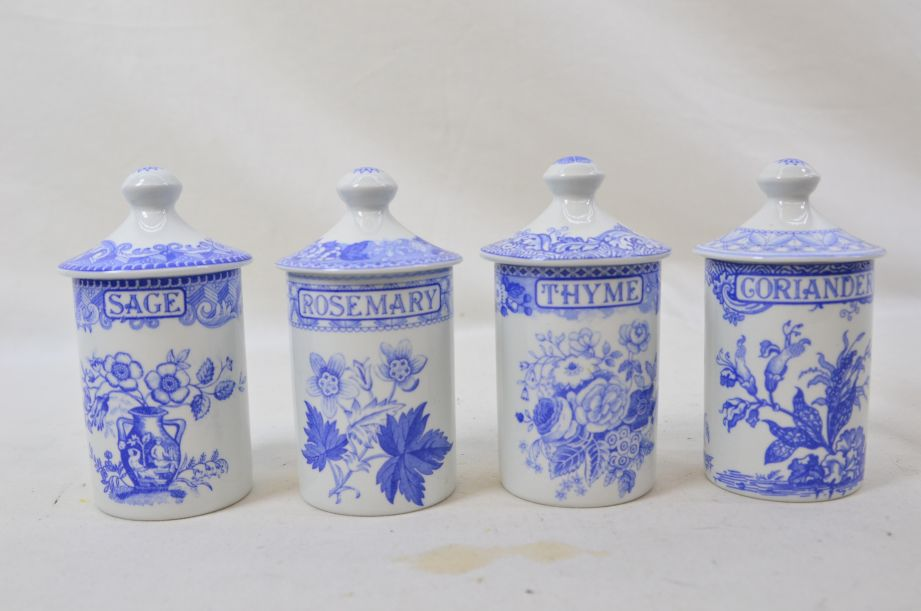 The Spode Blue Room  Geranium Spice Jars