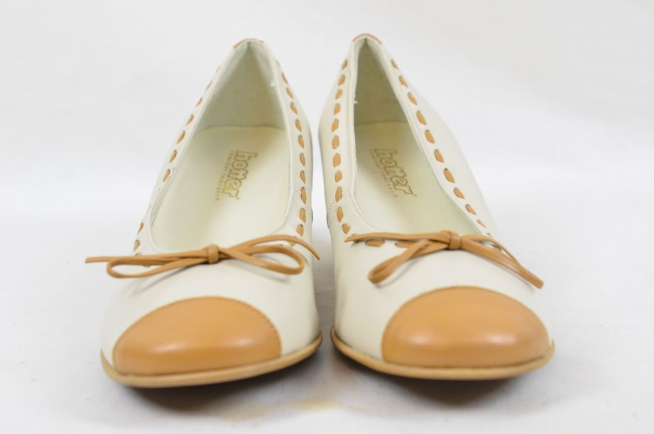 Hotter Comfort Concept White Tan Leather Ladies Shoes UK Size 4.5 2