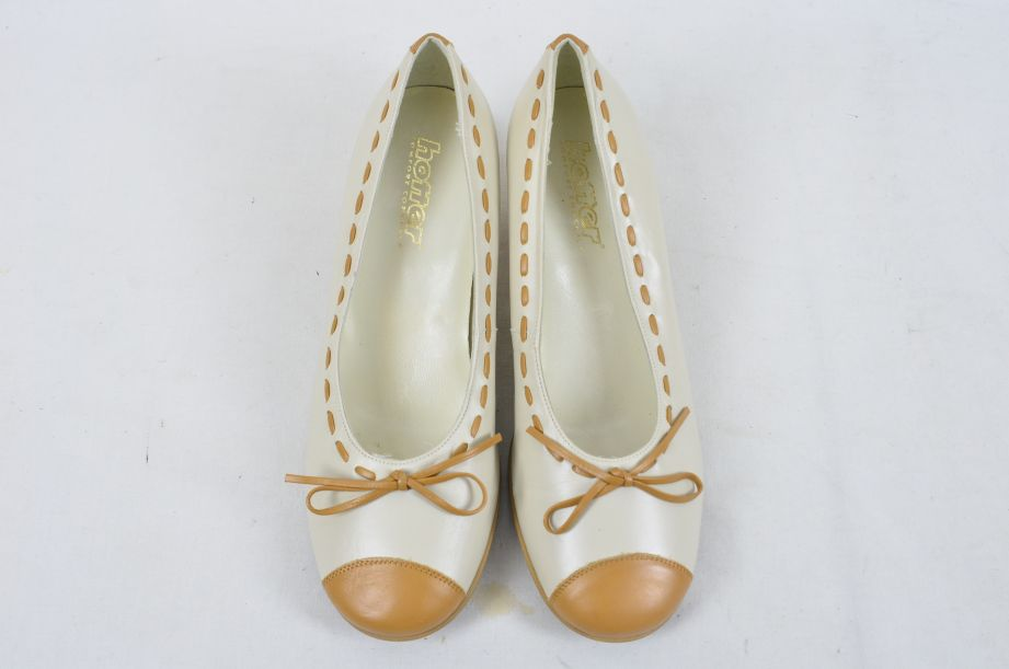 Hotter Comfort Concept White Tan Leather Ladies Shoes UK Size 4.5 3