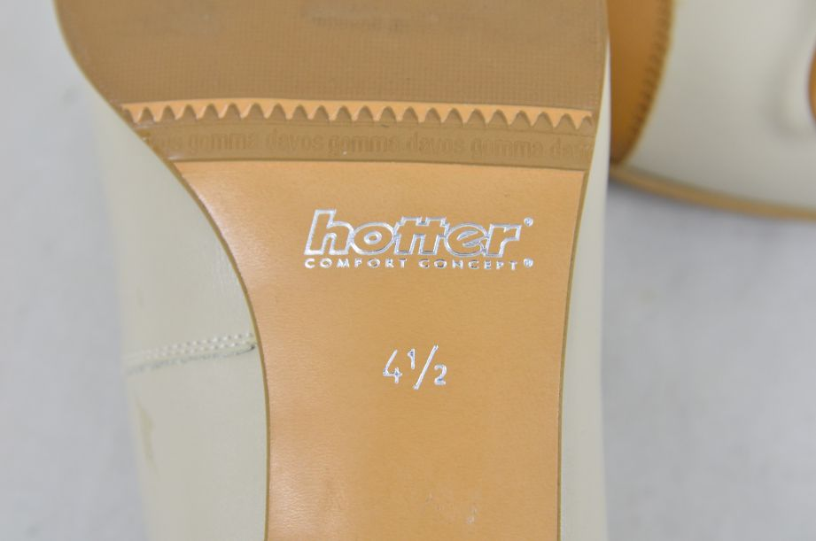 Hotter Comfort Concept White Tan Leather Ladies Shoes UK Size 4.5 8