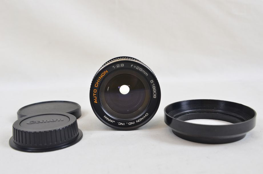 Chinon 28mm F2.8 M42 Screw With Canon EOS Bayonet Adaptor 1