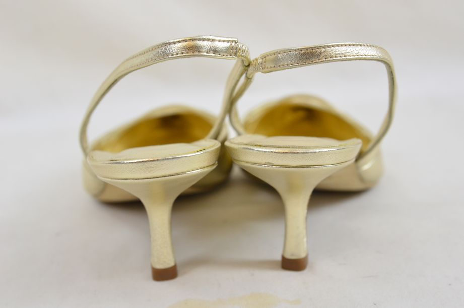 L k Bennett Poem Gold Ladies Shoes UK Size 4.5 New Unworn 2