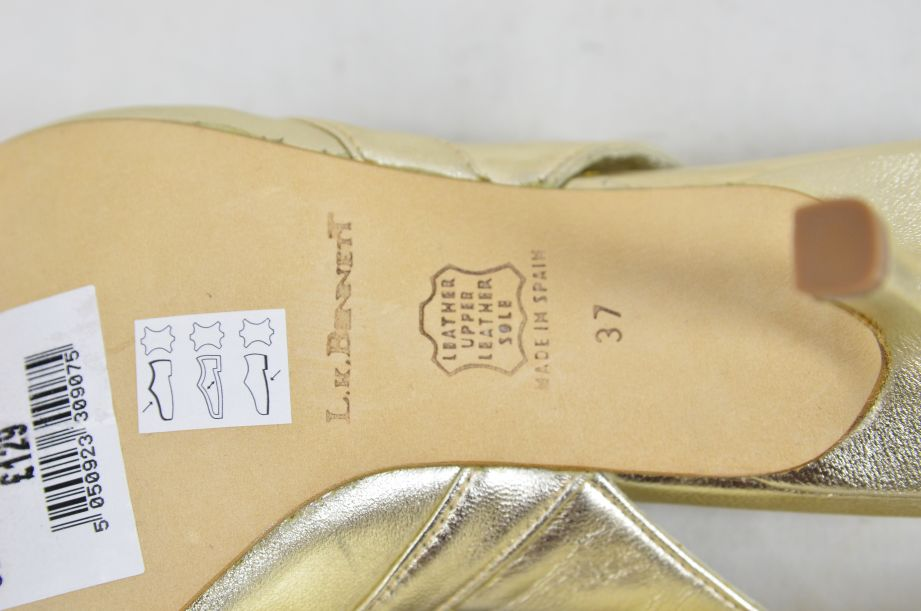 L k Bennett Poem Gold Ladies Shoes UK Size 4.5 New Unworn 6