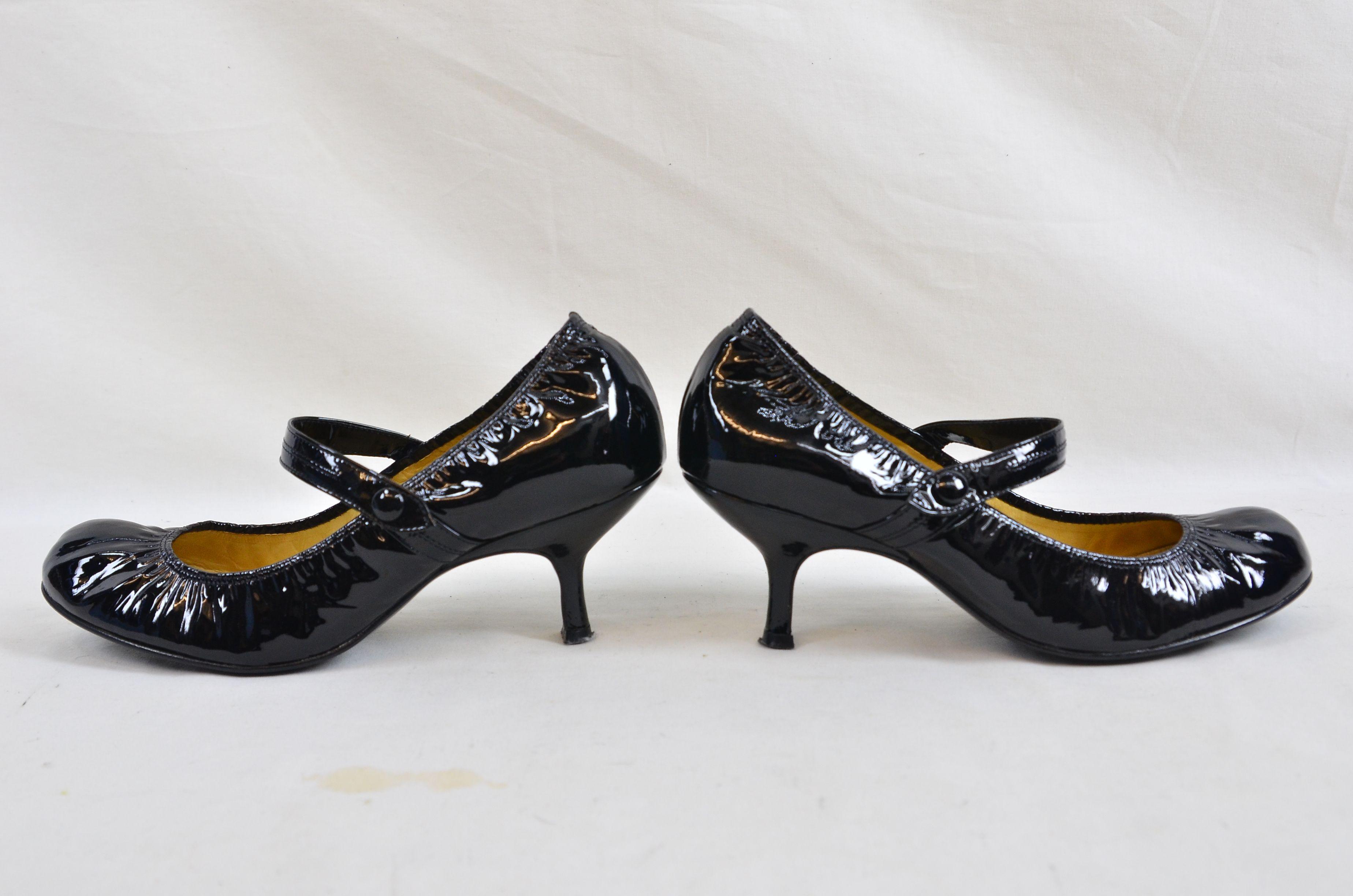 b29d77f82c4 Lanvin River 2007 Ballerinas Bride Velvet Lamb Heel Ballet Black Shoe 6.  Open Full-Size Image