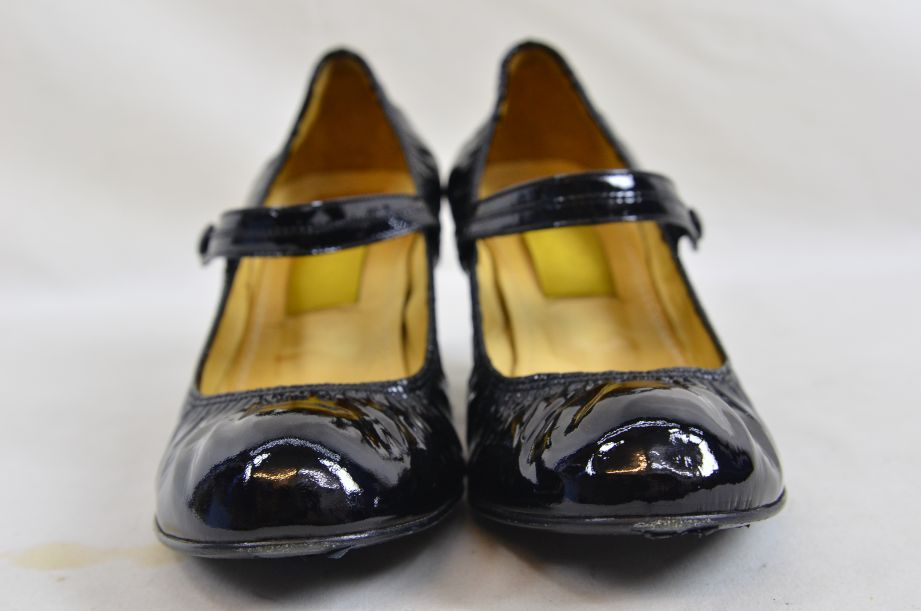 Lanvin River 2007 Ballerinas Bride Velvet Lamb Heel Ballet Black Shoe UK 6.5 2