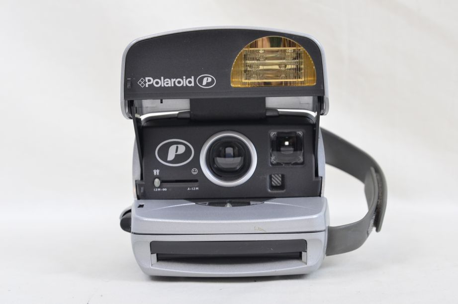 Polaroid P Silver Instamatic Instant Print Camera Impossible Project 600 2