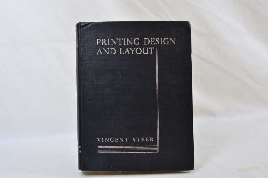 Printing Design And Layout Vincent Steer Hardback Book