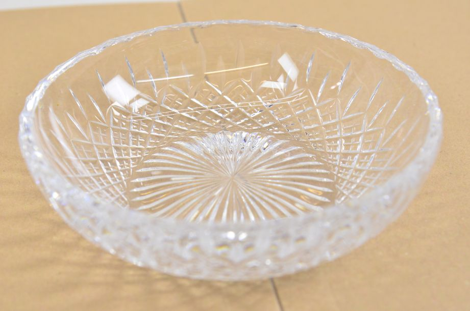 Stuart Crystal Shaftesbury Pattern Shallow Bowl 17cm Diameter