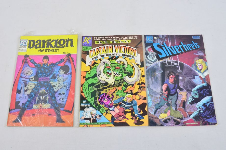 Vintage PC Comics Captain Victory Silverheels Darklon The Mystic Collectable