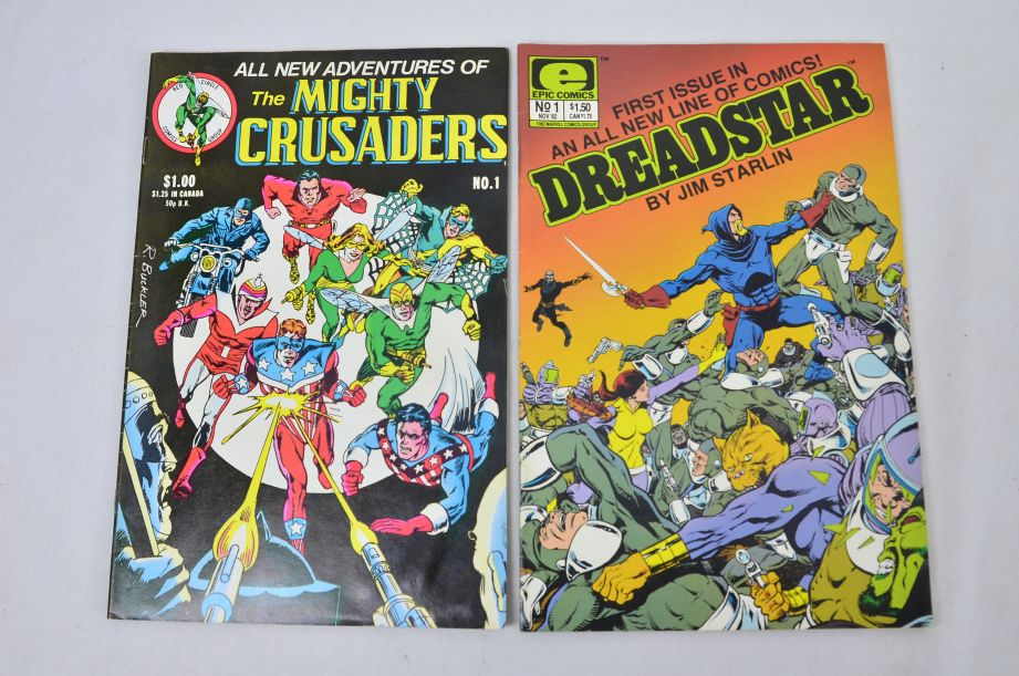 Red Circle Mighty Crusaders Epic Dreadstar First Warp Kitchen Sink Spirit Comics 2
