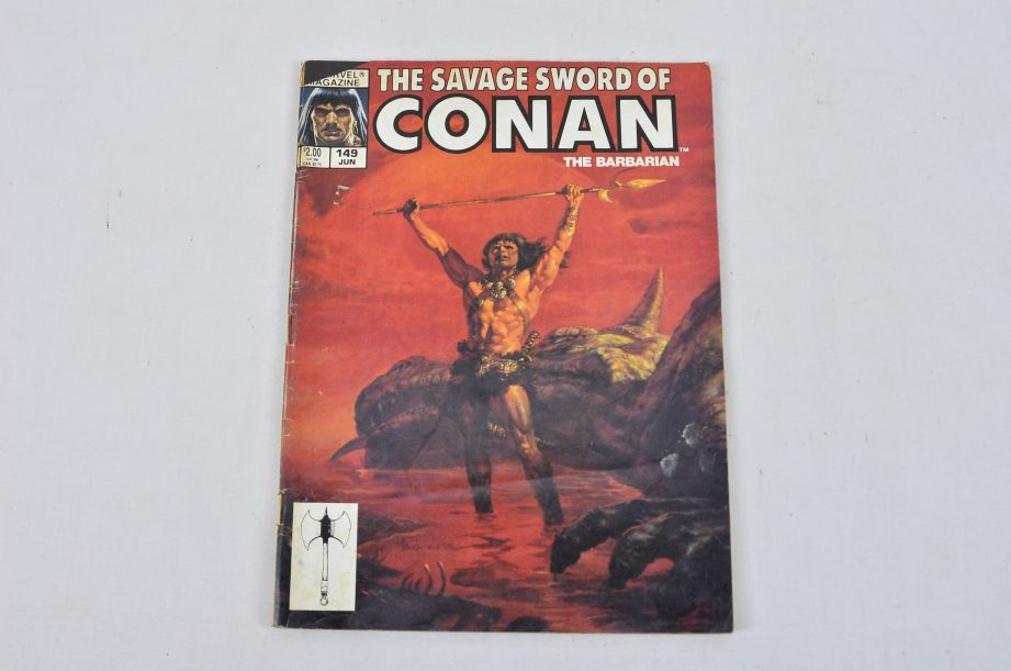 Vintage Marvel Magazine The Savage Sword Of Conan The Barbarian Collectable 3