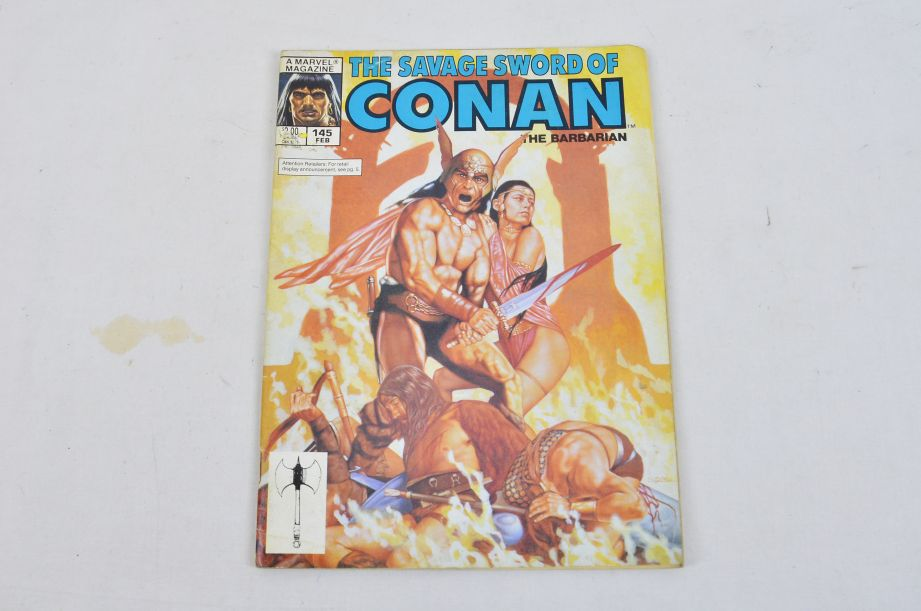 Vintage Marvel Magazine The Savage Sword Of Conan The Barbarian Collectable 4