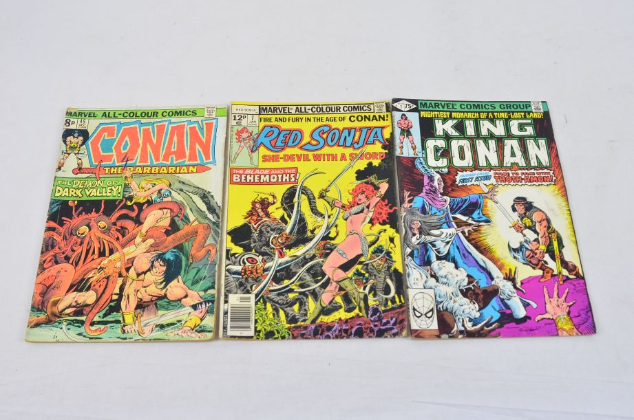 Vintage Marvel Comics Group King Conan Red Sonja Conan The Barbarian Collectable 1