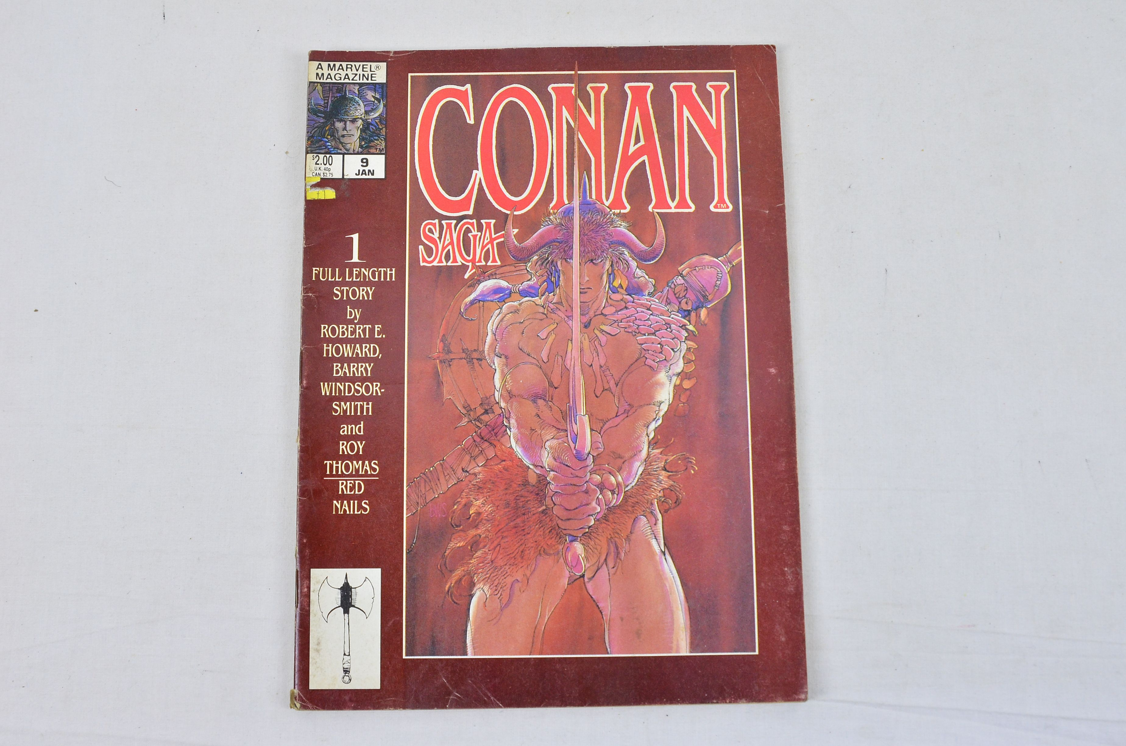 Vintage Marvel Comics Group Conan Saga Number 9 Collectable Comic Thumbnail 1