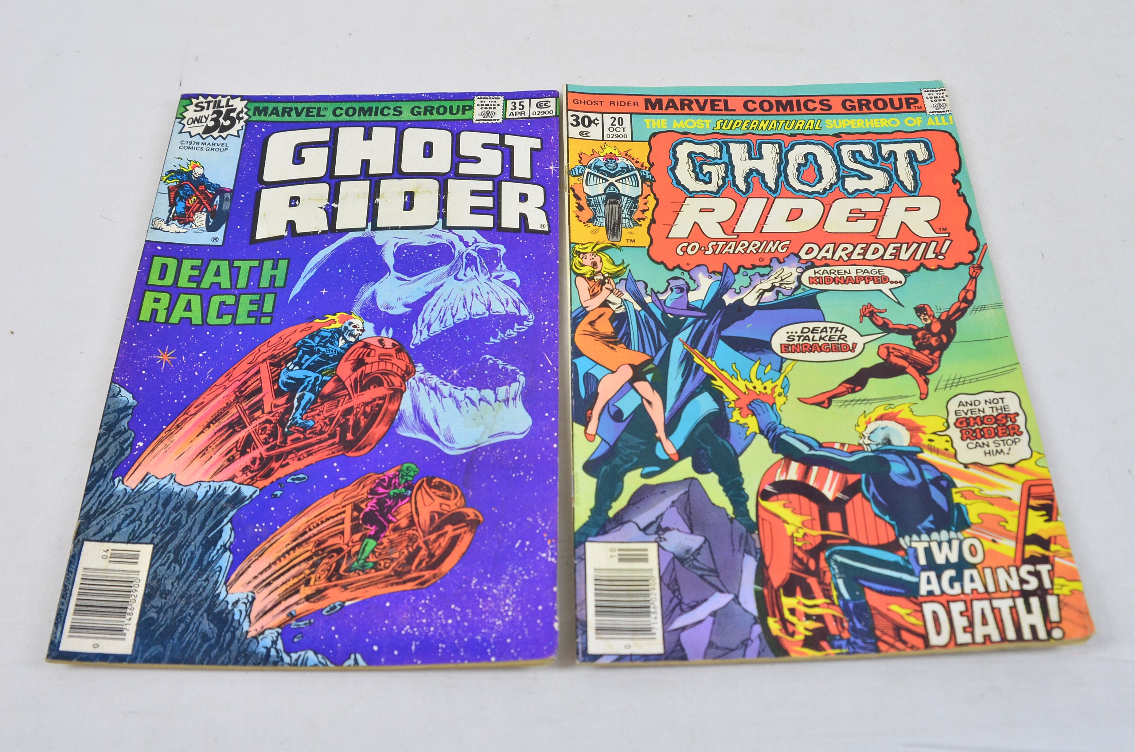 Vintage Marvel Comics Group Ghost Rider Co-Starring Daredevil Collectable Comic Thumbnail 1