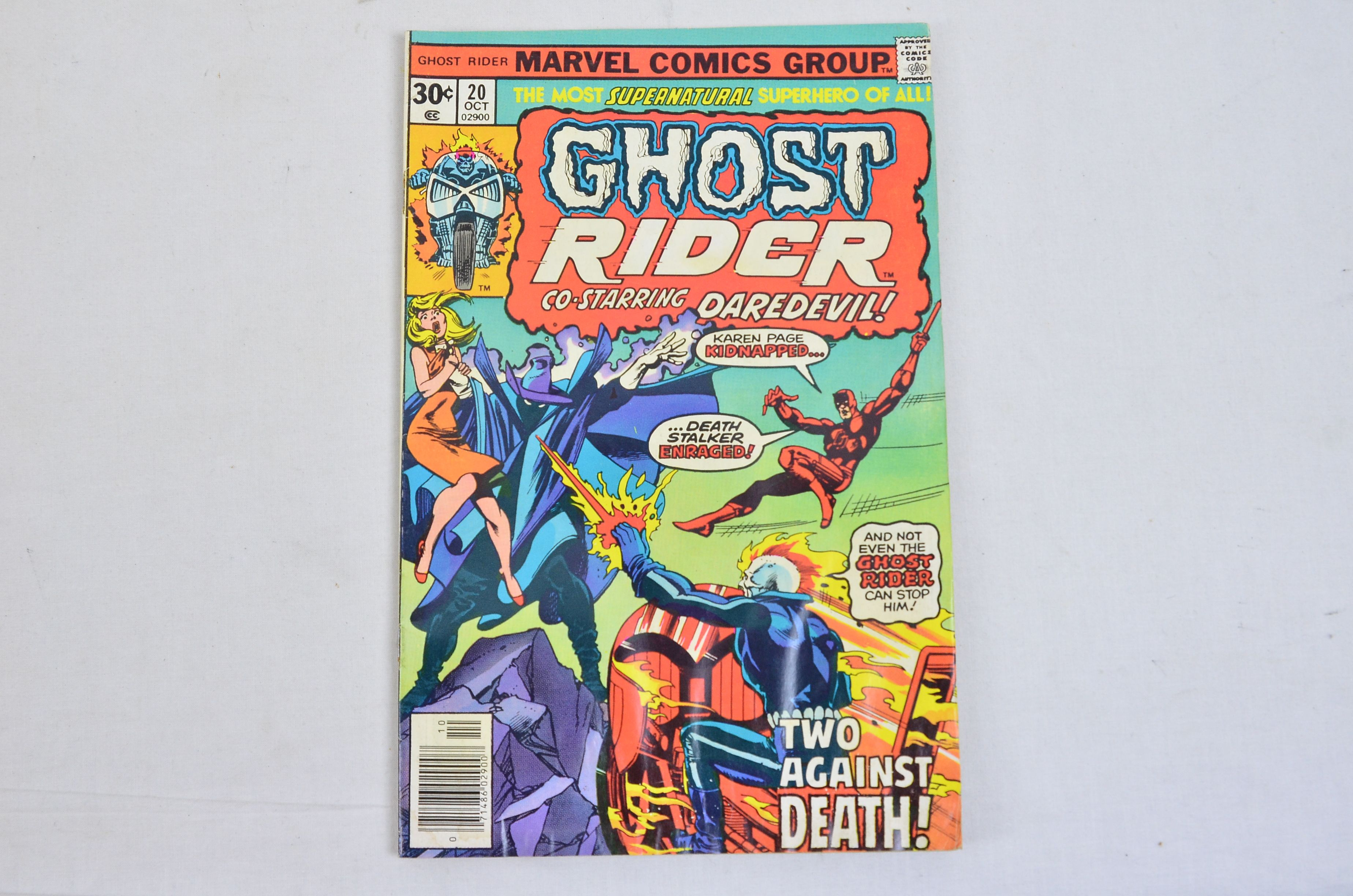Vintage Marvel Comics Group Ghost Rider Co-Starring Daredevil Collectable Comic 3