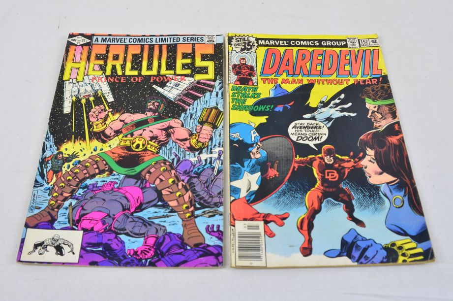Vintage Marvel Comics Group Hercules Prince Of Power Daredevil Man Without Fear 1