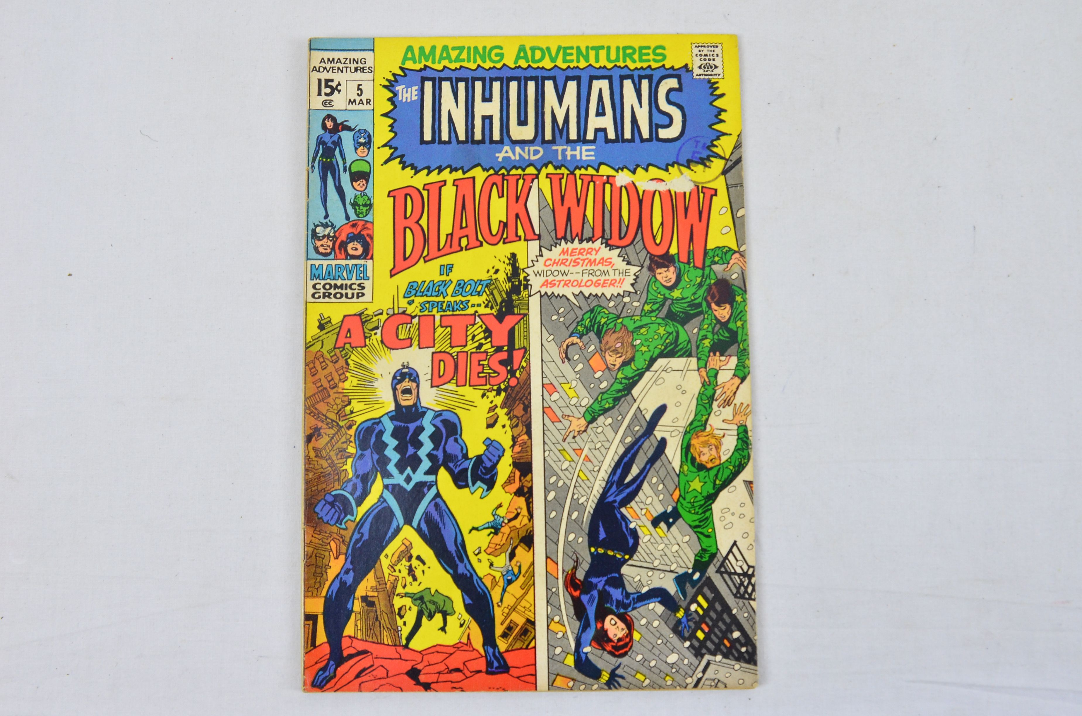 Vintage Marvel Comics Group The Inhumans And The Black Widow Collectable Comic Thumbnail 1