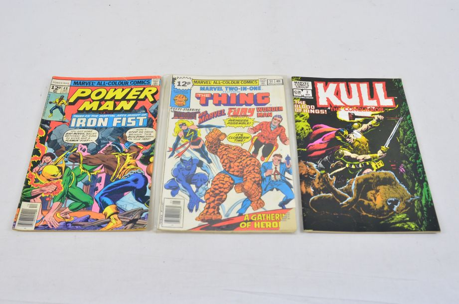 Vintage Marvel Comics Group Kull The Conqueror Power Man The Thing Collectable