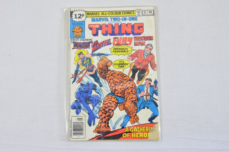 Vintage Marvel Comics Group Kull The Conqueror Power Man The Thing Collectable 3