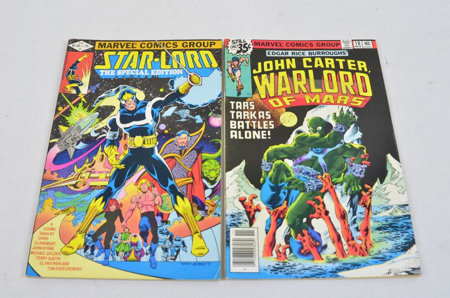 Vintage Marvel Comics Group Star-lord John Carter Warlord Of Mars Collectable