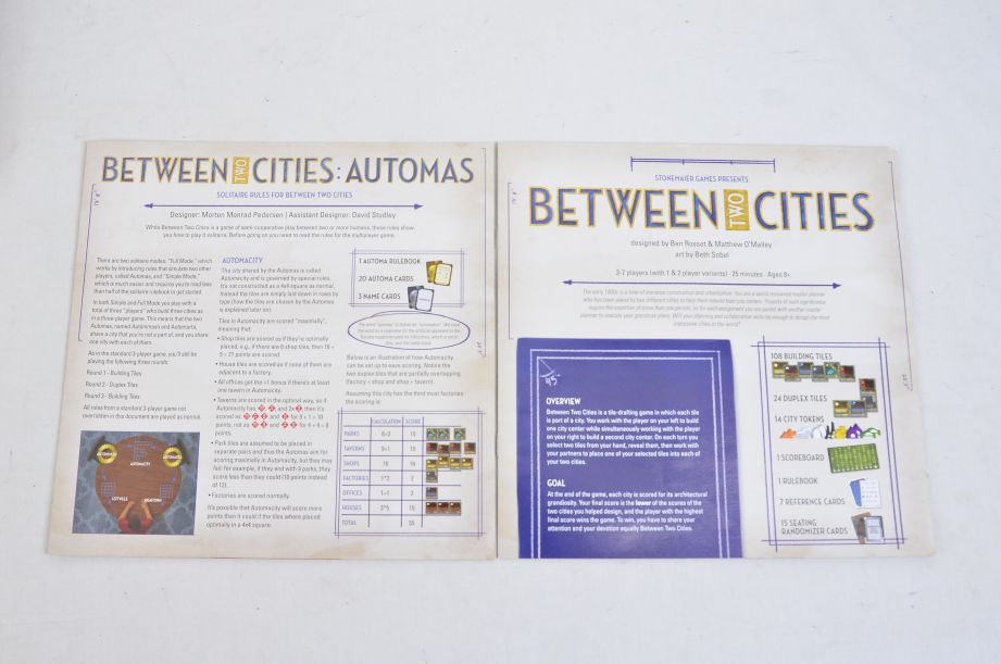 Between Two Cities Strategy Board Game By Stonemaier Games 2