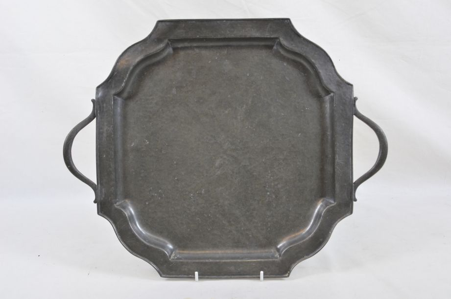 Vintage Abbey Pewter Hand Hammered Pewter Tray