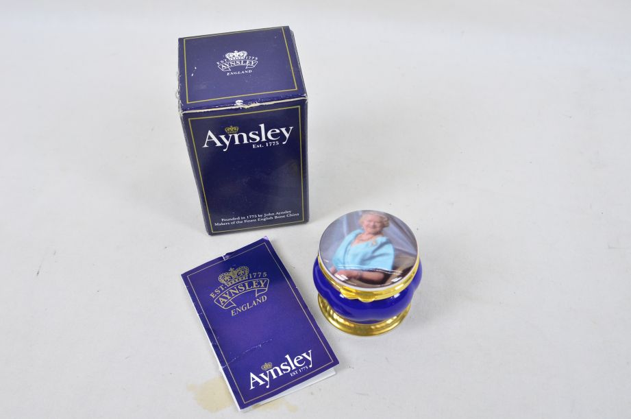 Aynsley Queen Mother 100th Birthday Commemorative Trinket Box 1