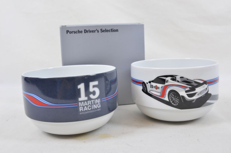 Porsche Drivers Selection Two Cereal Bowls 15 Martini Racing WAP0500700F 1