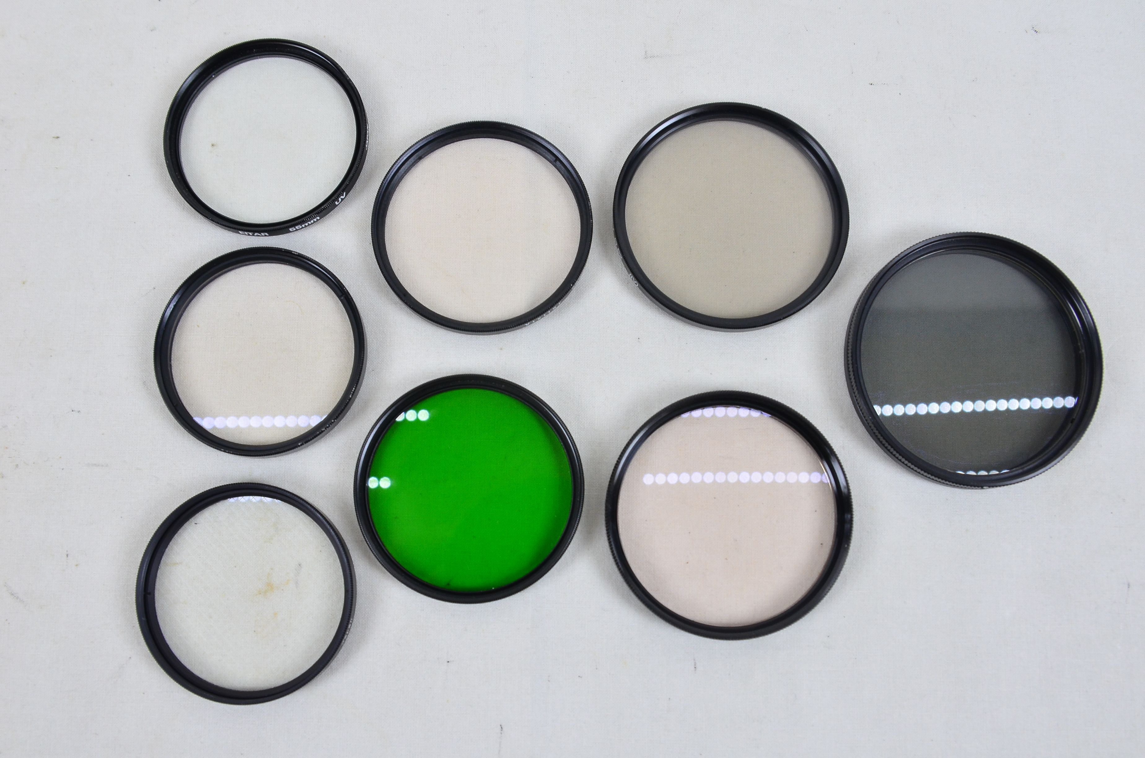 Assorted Filters 3x 55mm 2x 58mm 2x 62mm 1x 67mm Special Effects Filters