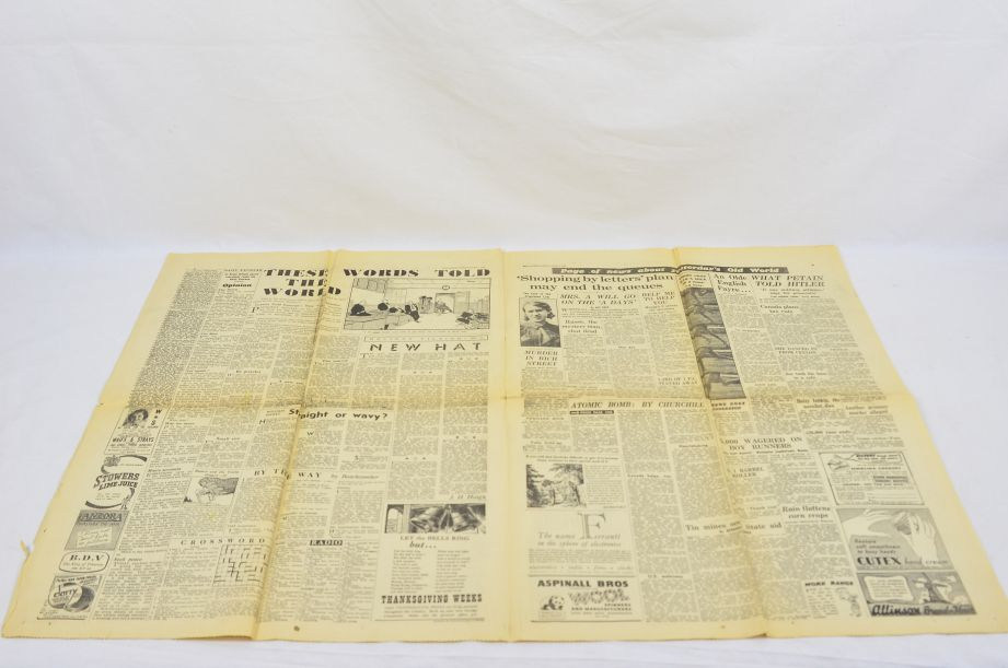 Daily Express August 7 1945 The Bomb That Has Changed The World Newspaper 3