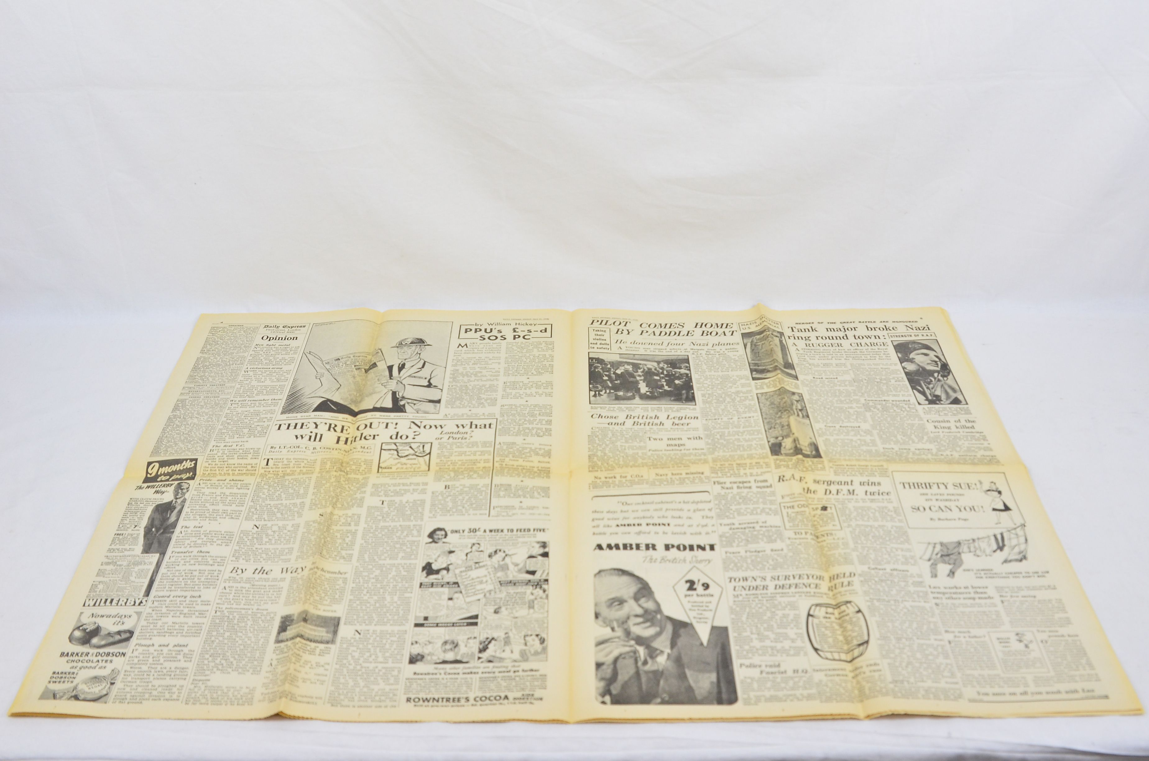 Daily Express May 31 1940 Evacuation Of Dunkirk Operation Dynamo Newspaper 3