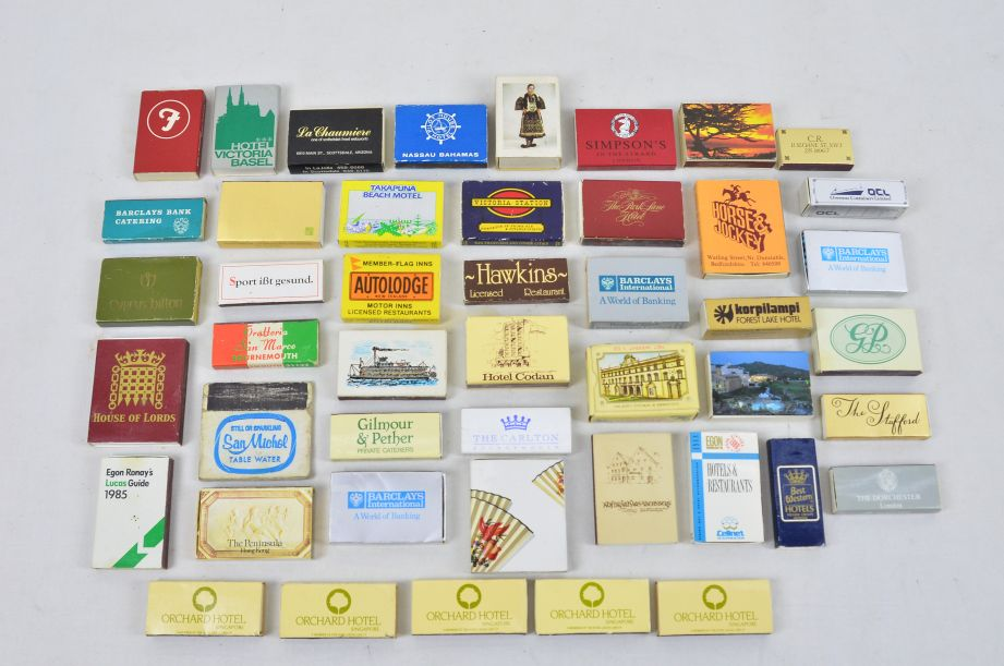 Assorted Vintage Collectors 45 Matchboxes And 130 Matchbooks With Matches