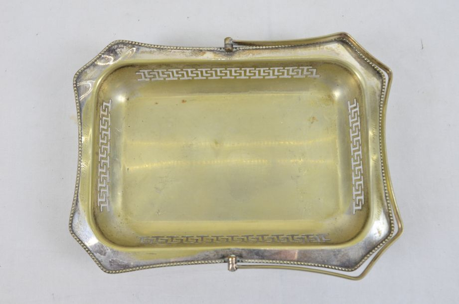 Vintage Made In England EPNS Silver Plated Tray With Handle 2