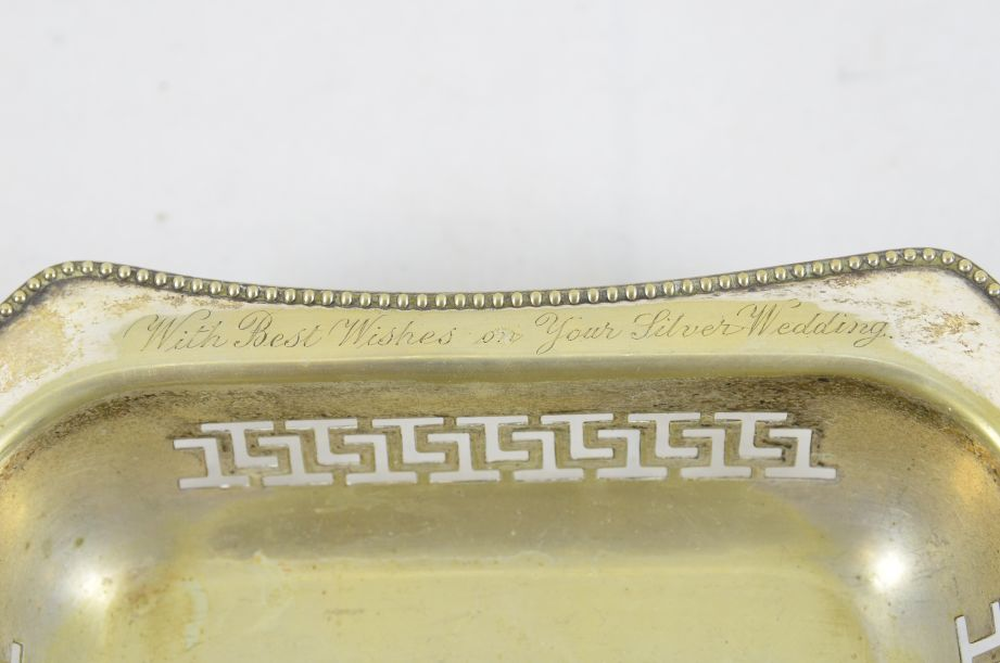 Vintage Made In England EPNS Silver Plated Tray With Handle 4