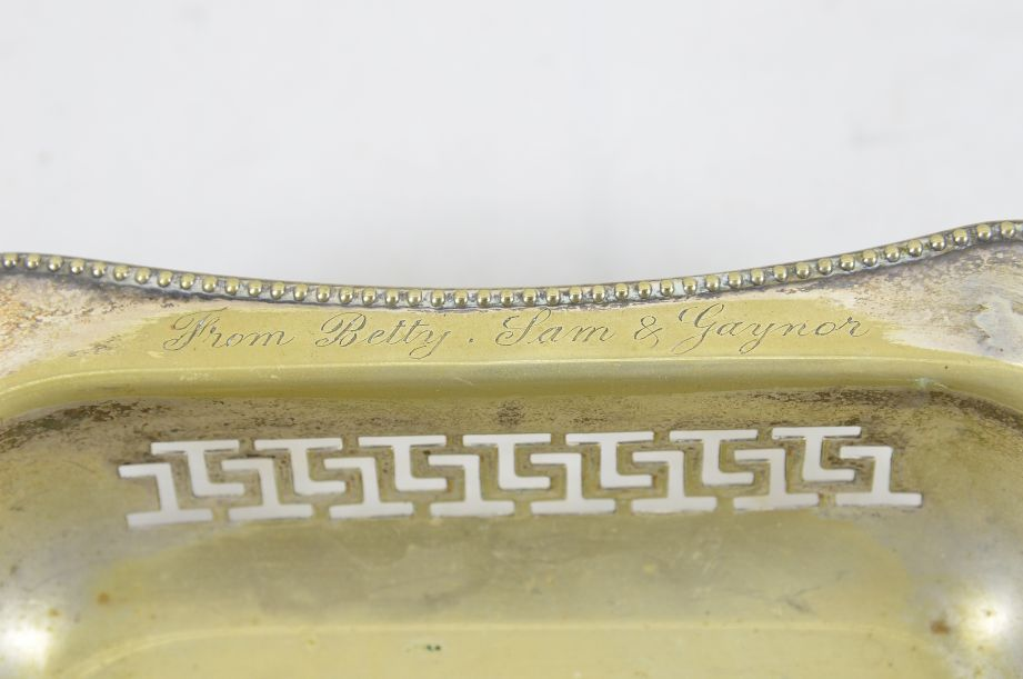 Vintage Made In England EPNS Silver Plated Tray With Handle 5