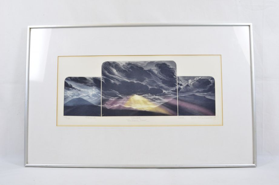 Susan E Jameson Framed Signed Limited Print 'Troutbeck Moor' 1981