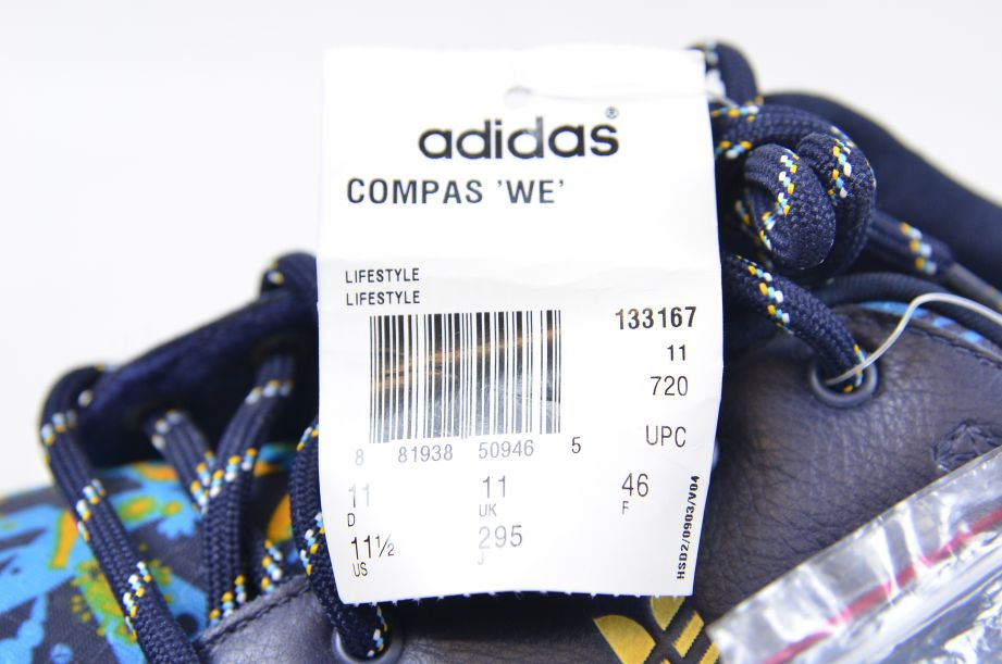Adidas / WeSC Compas 2005 Blue Crayfish Party Shoe Trainers UK 11 EU 46 9