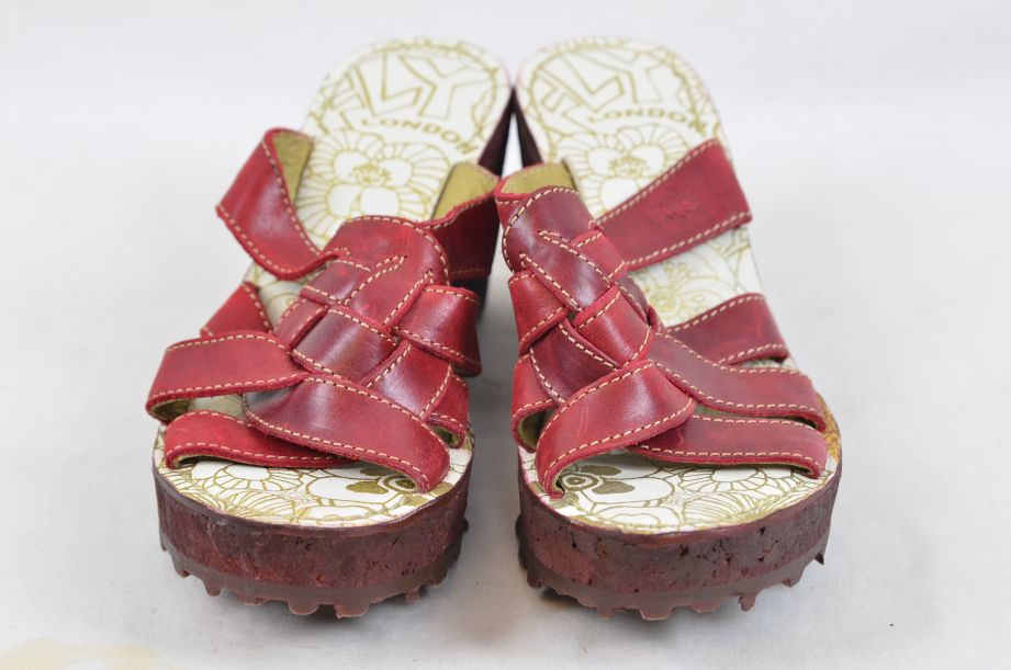 Fly Red Wedge Shoes UK 6 EU 39 1