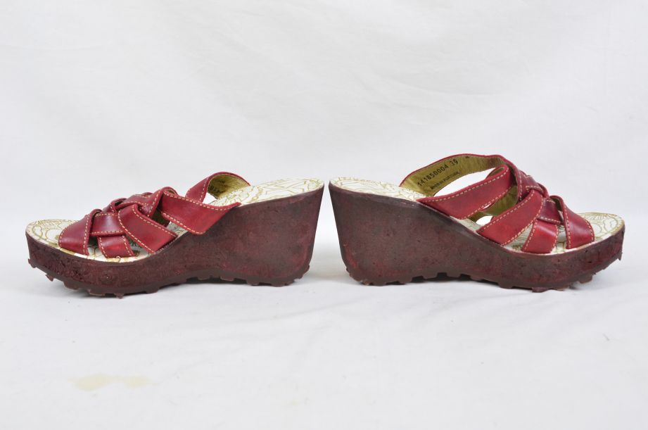 Fly Red Wedge Shoes UK 6 EU 39 4