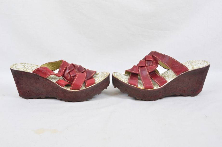 Fly Red Wedge Shoes UK 6 EU 39 5
