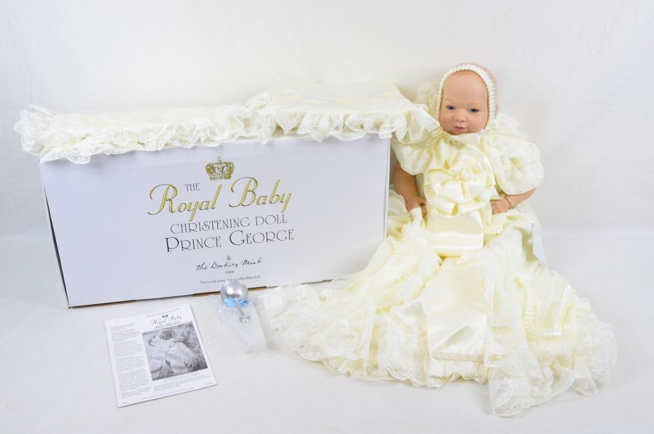 Royal Baby Christening Collectable Doll Prince George - Danbury Mint 1