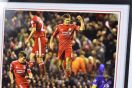 Liverpool v Everton 2012 Framed Football Photo Signed by Steven Gerrard Thumbnail 6