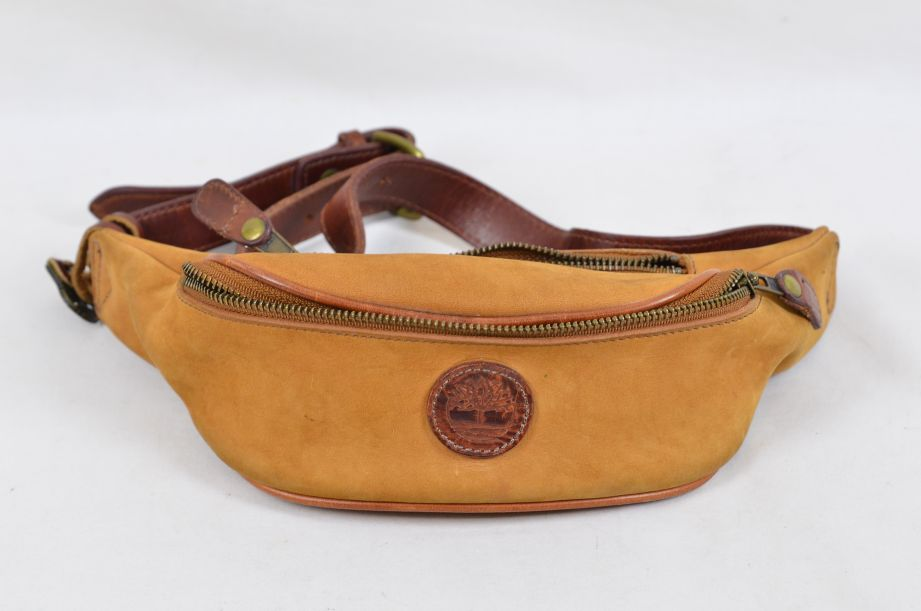 Timberland Suede Leather Waist Pack / Bum Bag Made in USA