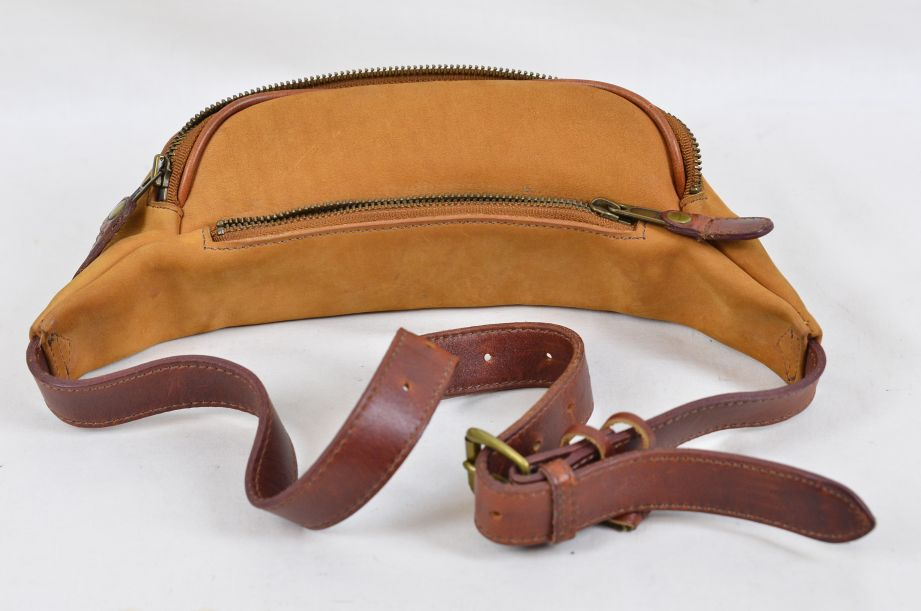 Timberland Suede Leather Waist Pack / Bum Bag Made in USA 3