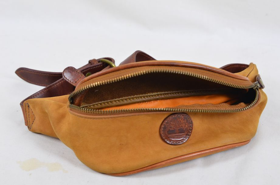 Timberland Suede Leather Waist Pack / Bum Bag Made in USA 4