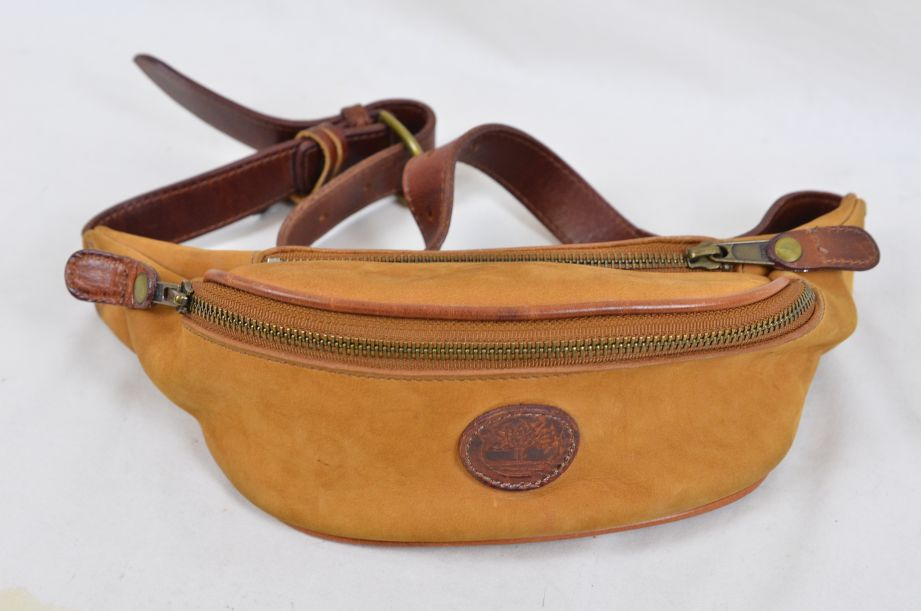 Timberland Suede Leather Waist Pack / Bum Bag Made in USA 5