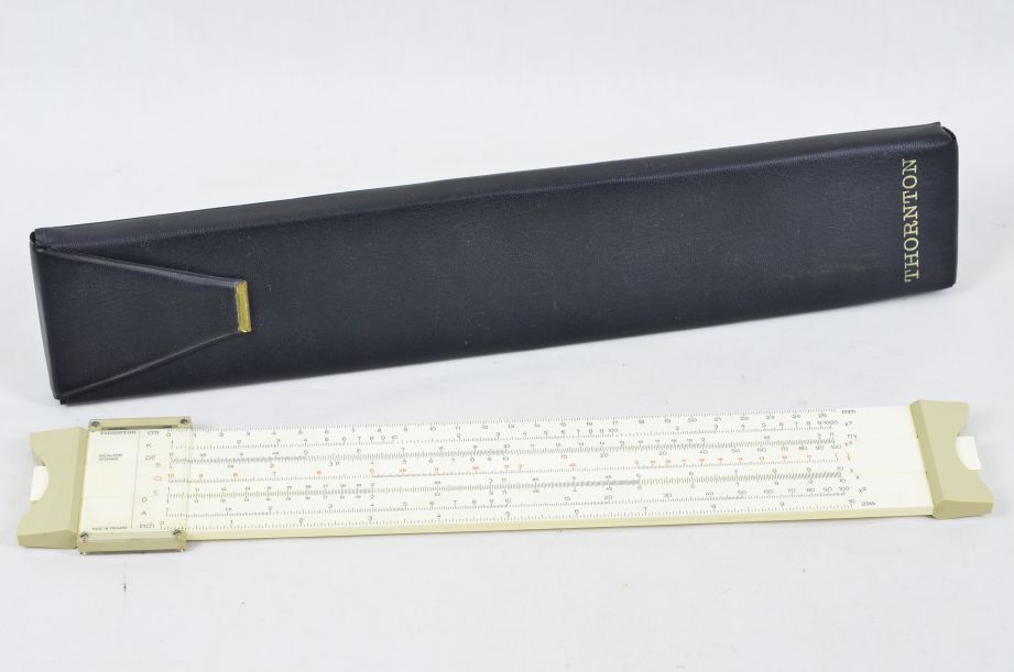 Vintage Thornton Slide Rule PIC No P251 Standard with Case 1