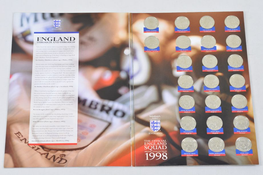 The Official England Squad Medal Collection 1998 FIFA World Cup + The Final Five 2
